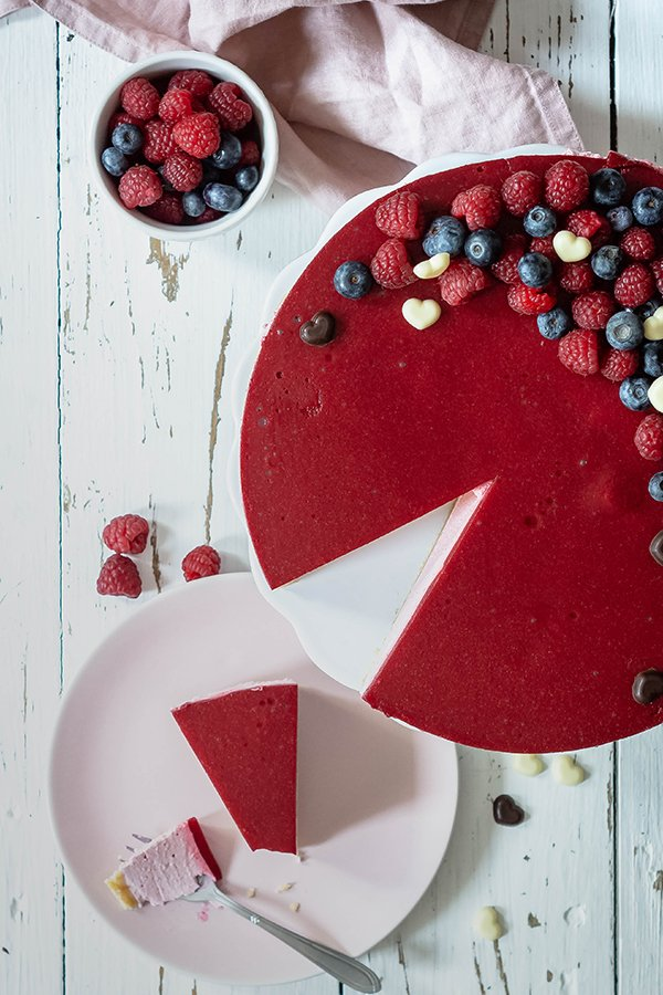 No Bake Valentinstags Cheesecake