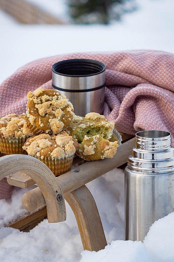 Avocado Muffins mit Streuseln