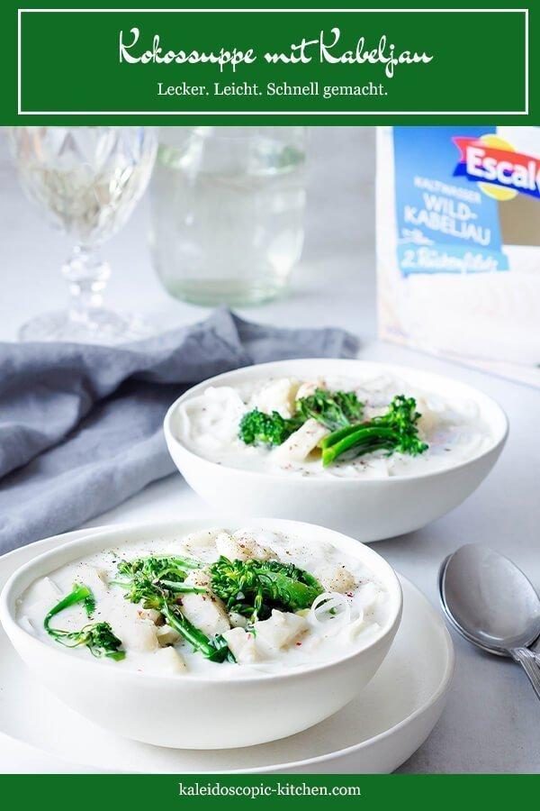 Eine leckere Kokossuppe mit Kabeljau von Escal Seafood.