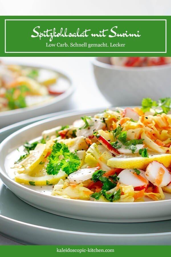 Spitzkohl als Salat mit Surimi - das perfekte Rezept für ein leichtes Abendessen