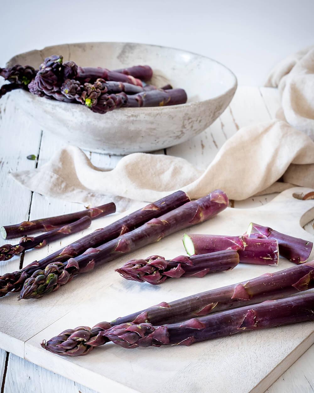 Purpurspargel – eine kleine Warenkunde