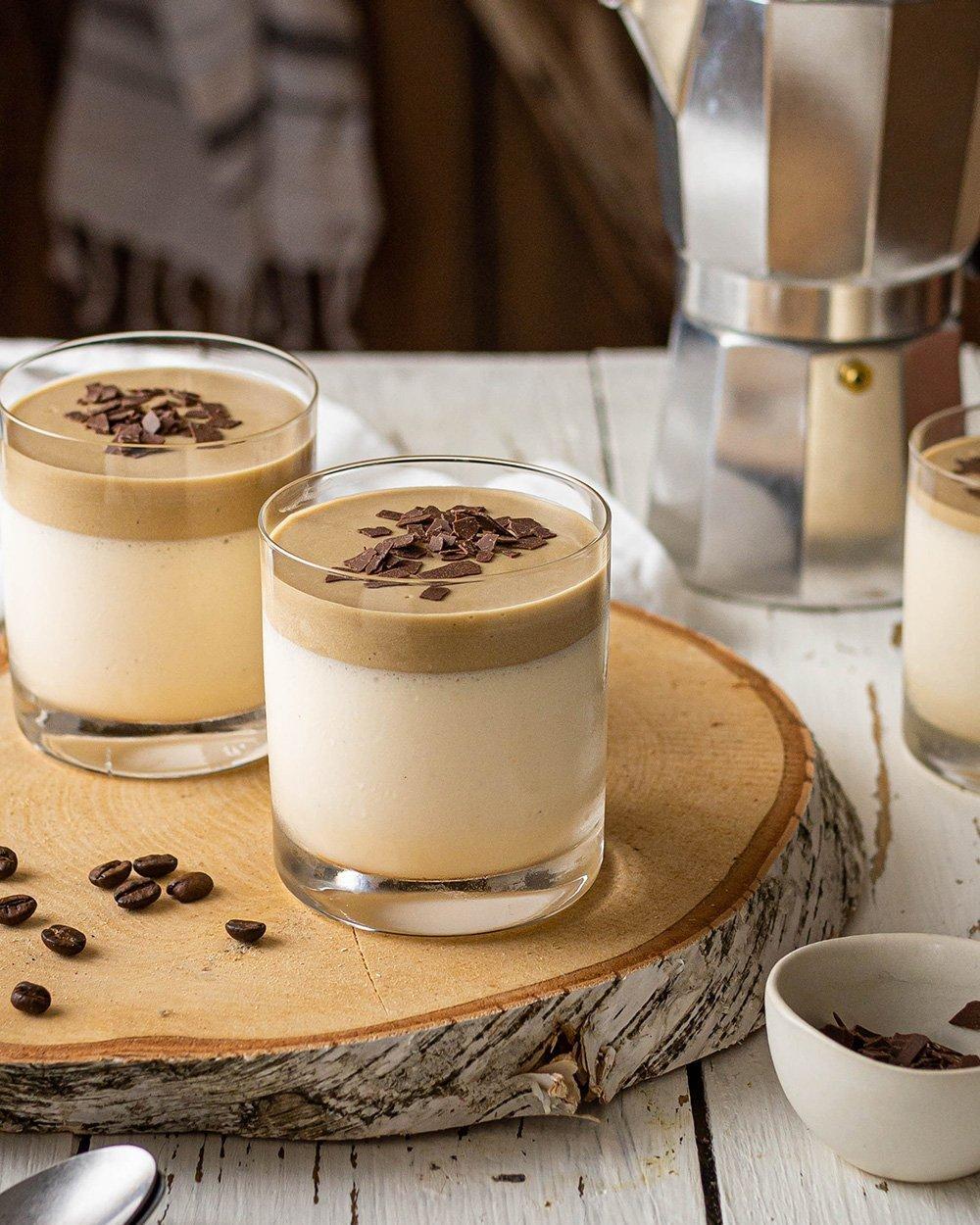 Bayerische Creme mit Kaffeemousse