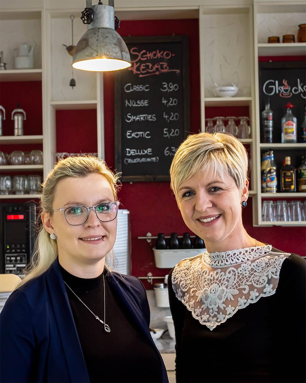 Die Glücksfeen des GlücksCafé Doreen Frank und Juliane Müller.