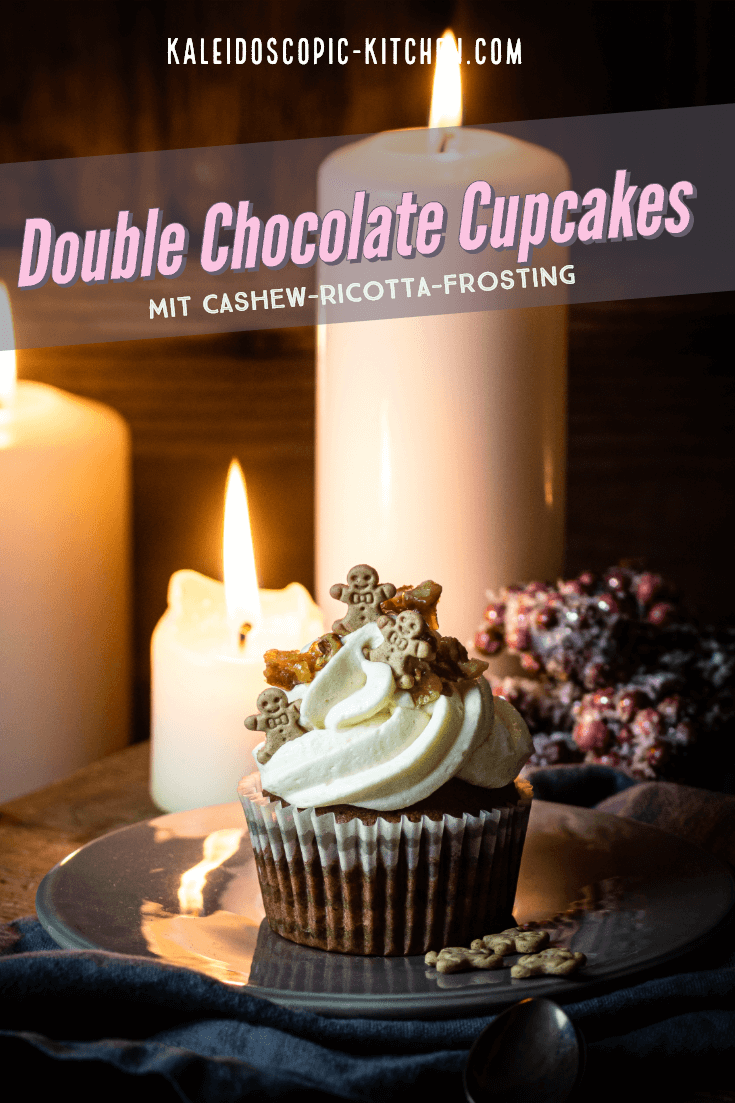Double Chocolate Cupcakes mit Cashew-Ricotta-Frosting