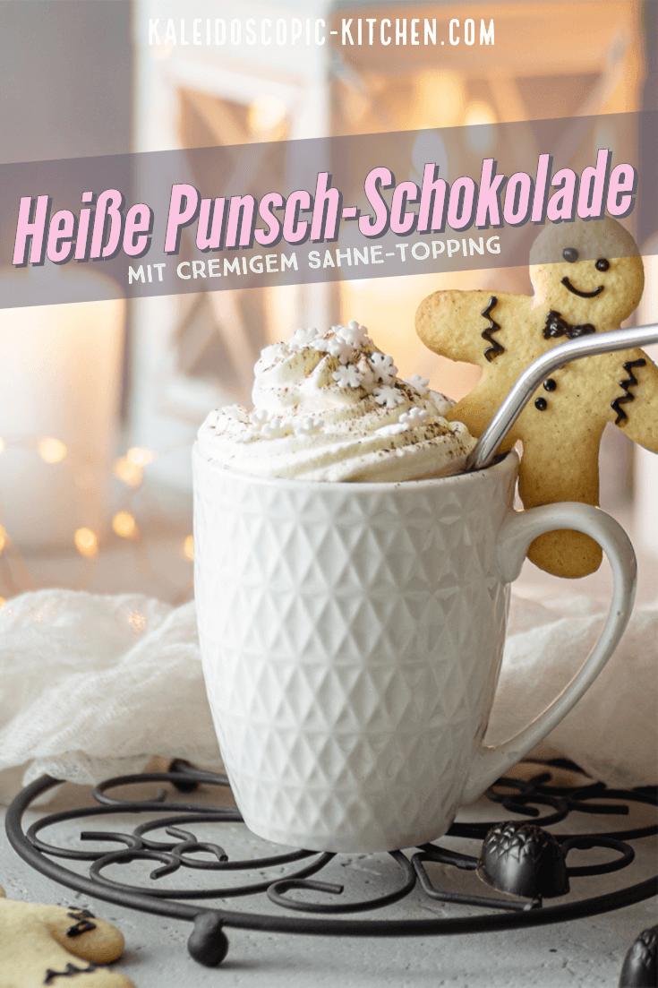 Heiße Punsch - Schokolade mit Sahne-Topping