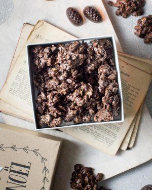Nougat Crunchies mit Nougat Zapfen von Berggold