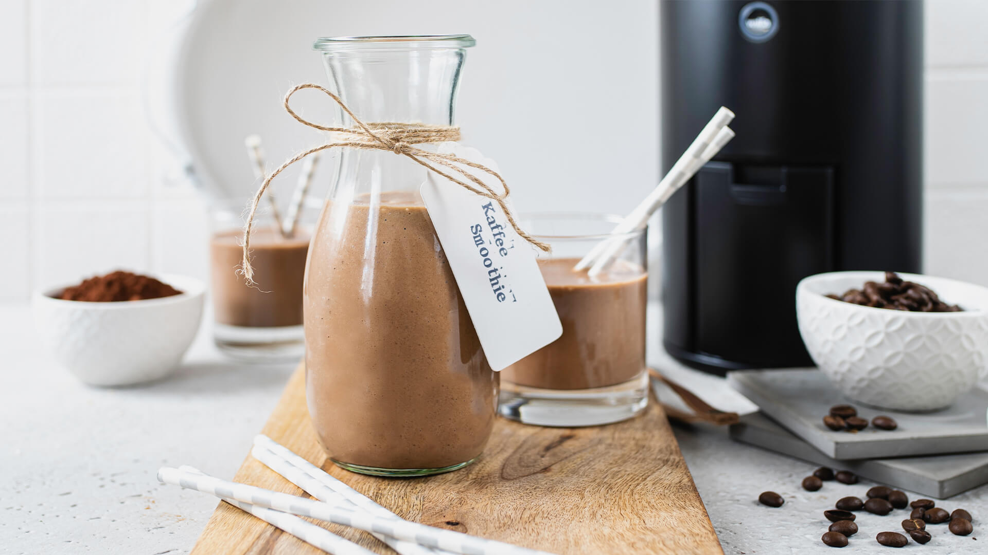 Kaffee – Smoothie mit frisch gemahlenem Kaffee