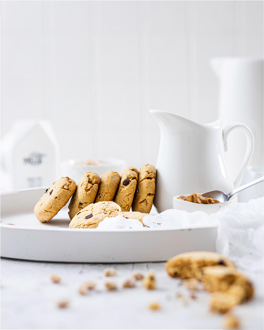 Erdnussbutter-Cookies mit Chocolate Chips